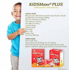Thành phần và tác dụng của thuốc kidsmune plus cho trẻ biếng ăn. - Thành phần và tác dụng của thuốc kidsmune plus cho trẻ biếng ăn